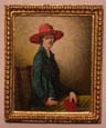 Miniature Painting 0094 Woman in a Red Hat