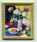 Miniature painting 0102 Still Life with vase of Flowers