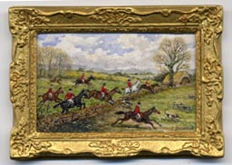 Miniature painting 0119 Foxhunt in Full Cry