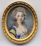 Miniature painting 0141 Oval Portrait of a Young Lady