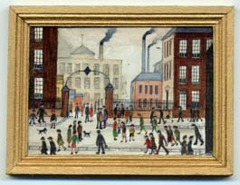 miniature painting 0147 Townscape in the Style of Lowry