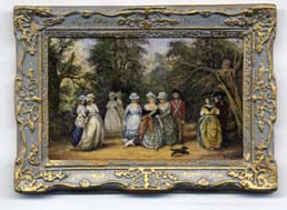 Miniature painting 0242 Ladies Strolling in a Woodland Glade