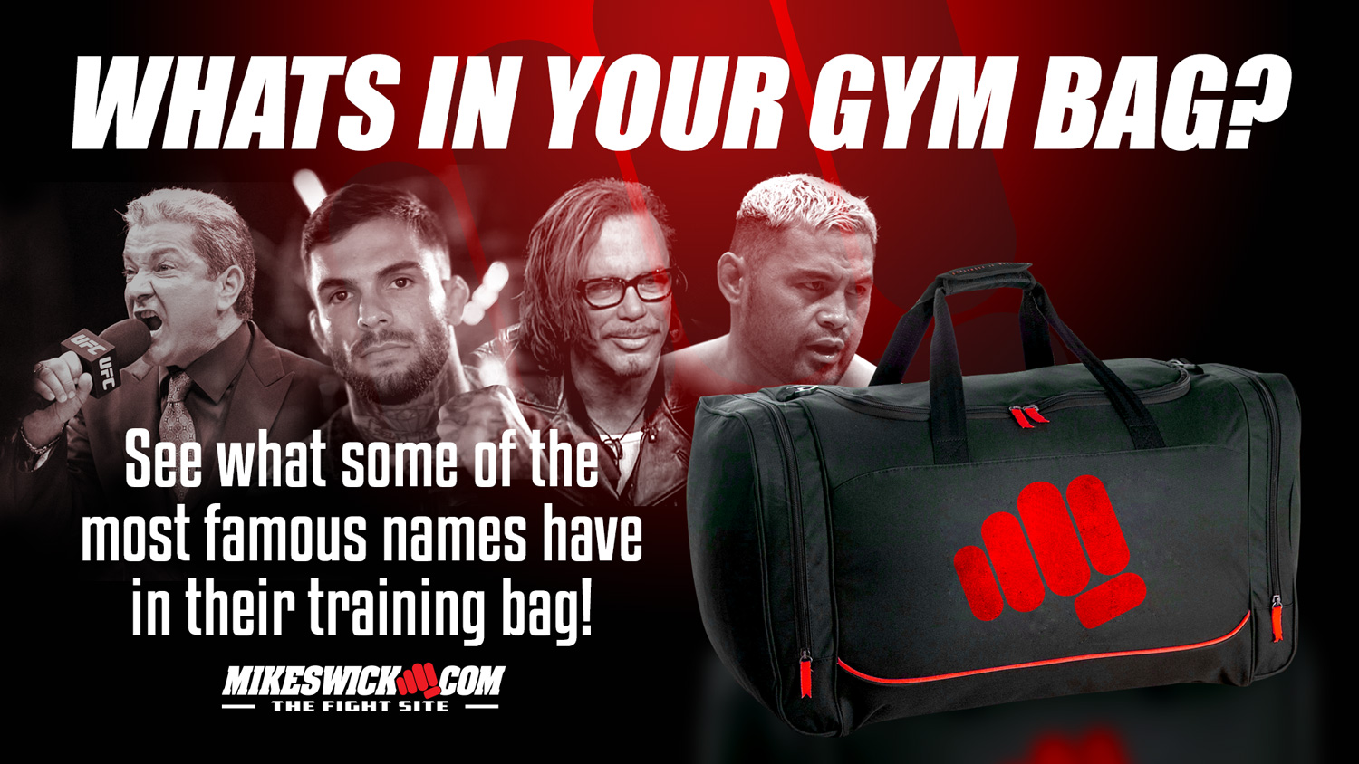 b8ca29268f0 Check Out What s In Your Favorite Fighters Gym Bags - MikeSwick.com