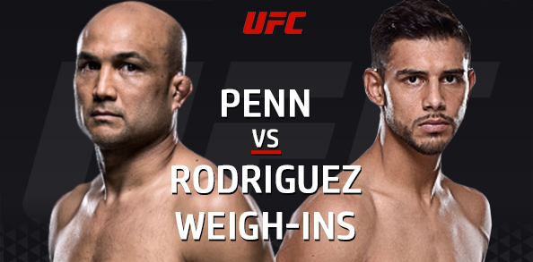 The UFC Official Weigh-in face-offs for UFN: Phoenix