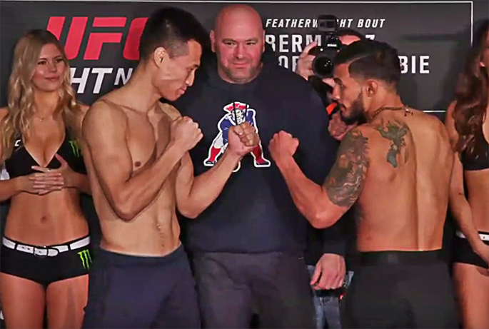UFC Ultimate Fight Night: Houston, Weigh-In Results. Chan Sung Jung vs Dennis Bermudez.