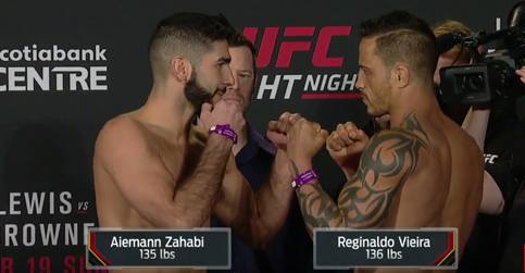 Traditional weigh-in face-offs for UFC Fight Night: Halifax
