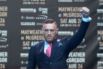 What looked like pinstripes are Conor's suit were anything but.