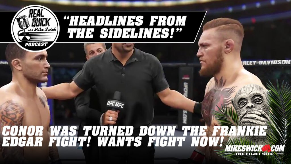 "RQMS clip. Conor McGregor: ""I am fighting again. Period."" Swick reacts."