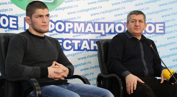 Khabib going into the toughest fight of his life. His dad is waiting for him