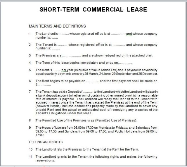 Commercial Lease Agreement Template 14