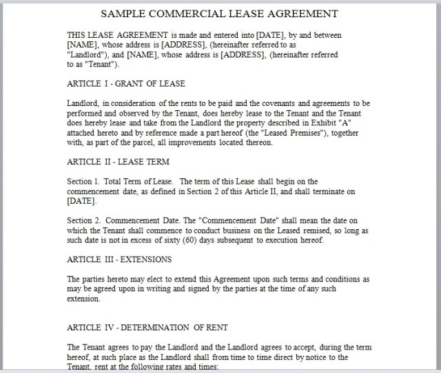 Commercial Lease Agreement Template 21