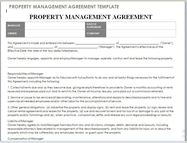 Property Management Agreement 04
