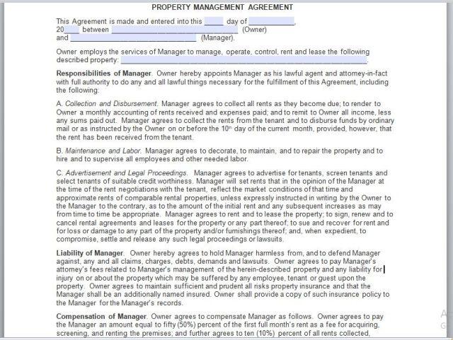 Property Management Agreement 08