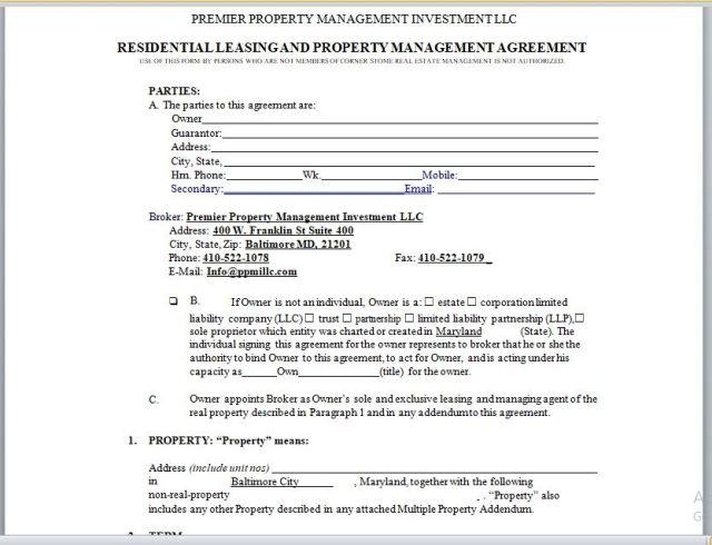 Property Management Agreement 12
