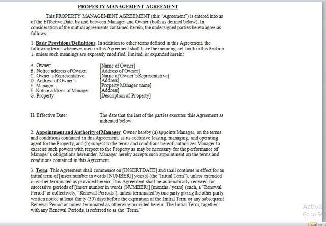 Property Management Agreement 15