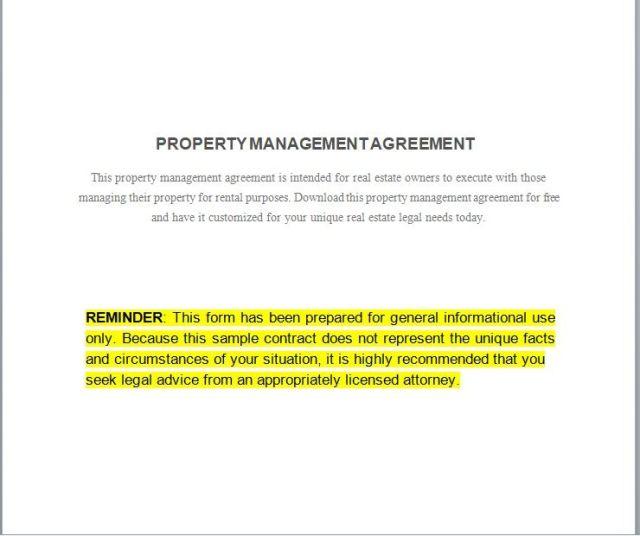 Property Management Agreement 17
