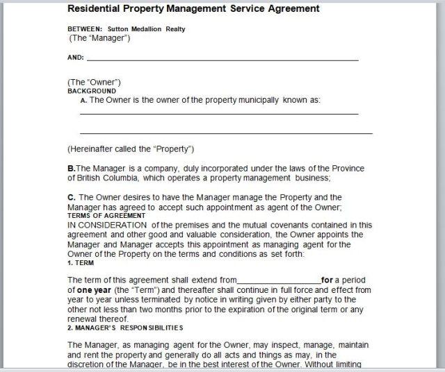 Property Management Agreement 19