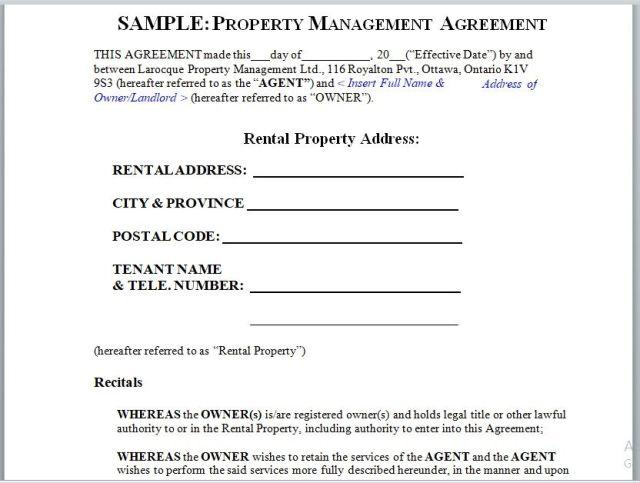 Property Management Agreement 20
