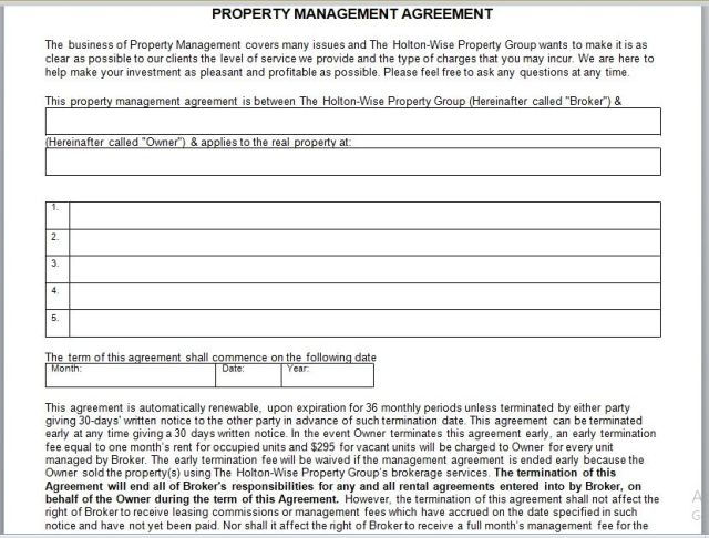 Property Management Agreement 22