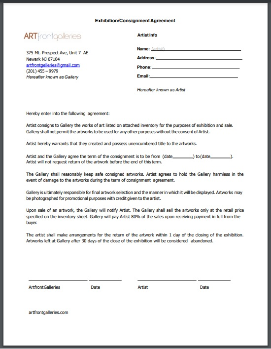 Consignment agreement template 01