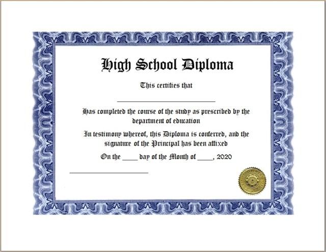 Diploma Certificate Template 15