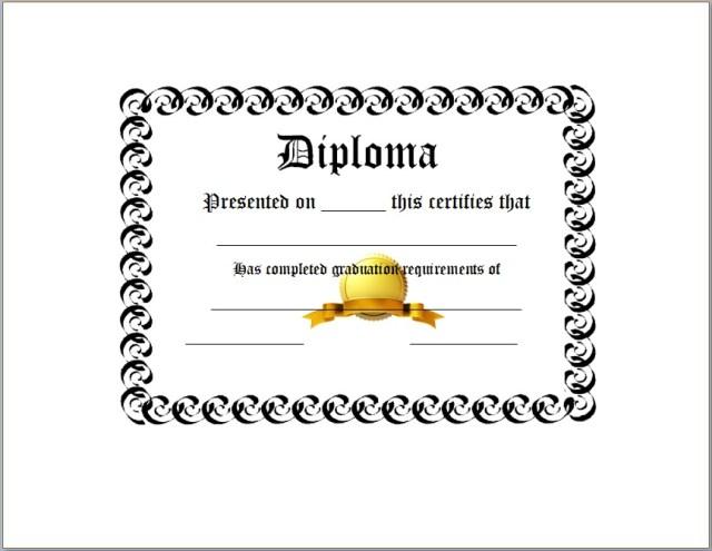 Diploma Certificate Template 16