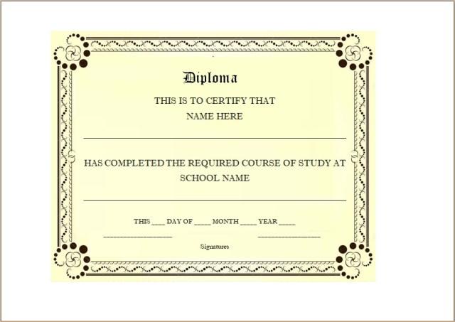 Diploma Certificate Template 17