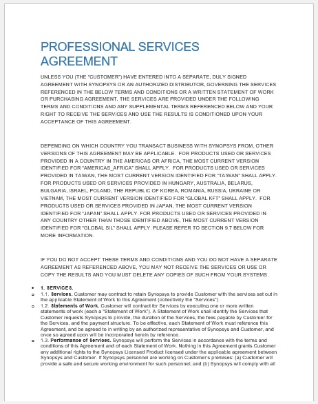 Service Agreement Template 20
