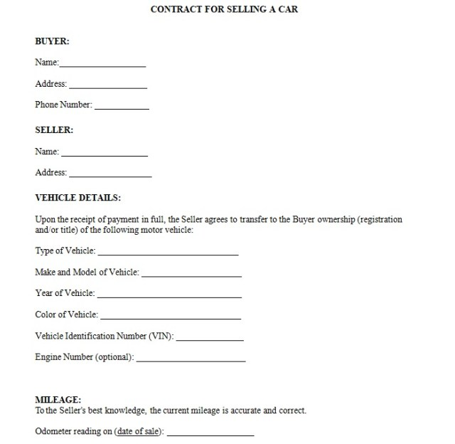 Vehicle Purchase Agreement Template 04