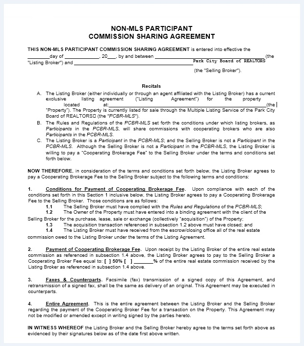 Commission agreement template 16