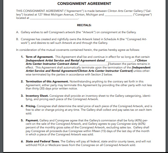 Consignment agreement template 17