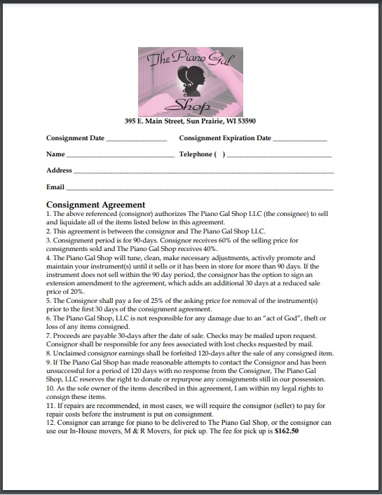 Consignment agreement template 20