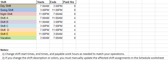 Daily Work Schedule Templates 06.