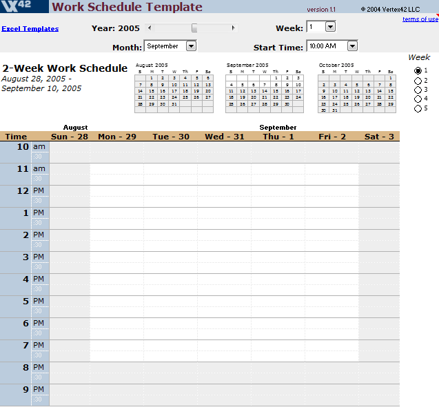 Daily Work Schedule Templates 11.