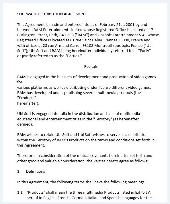 Distribution agreement template 06..