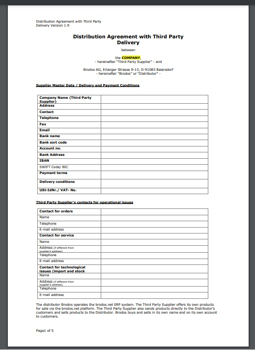 Distribution agreement template 13..