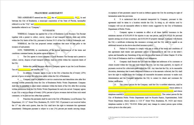 Franchising Agreement 03