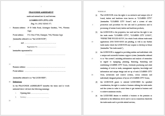 Franchising Agreement 05..
