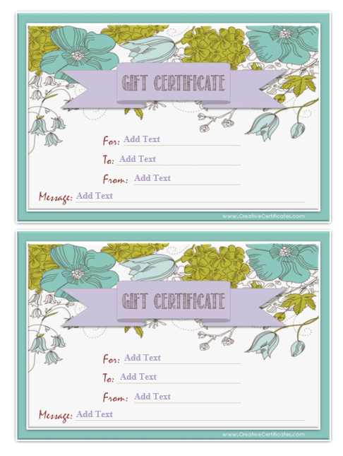 Gift Certificate Template 19