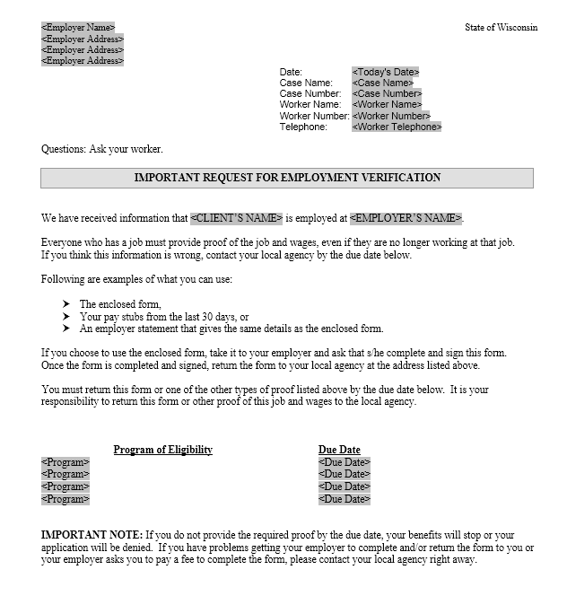 Income Verification Letter Sample 05