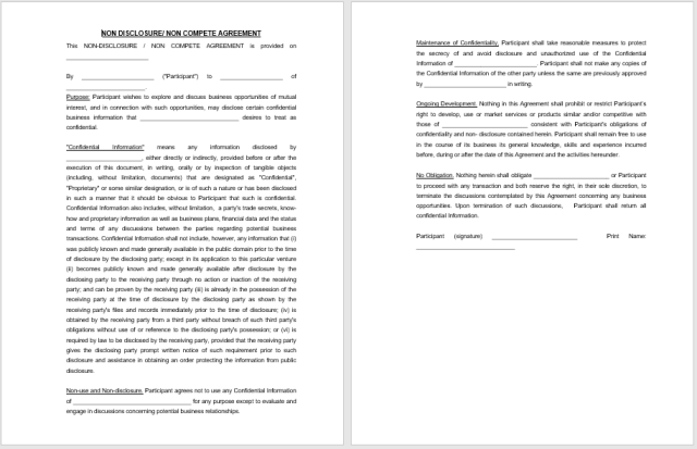 Non Disclosure Agreement Template 07