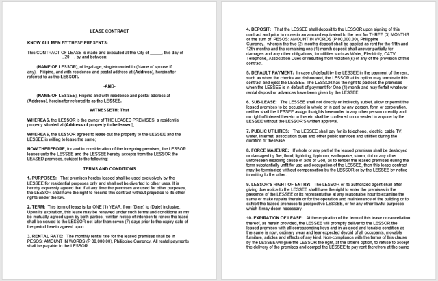 Rental Agreement Template 02