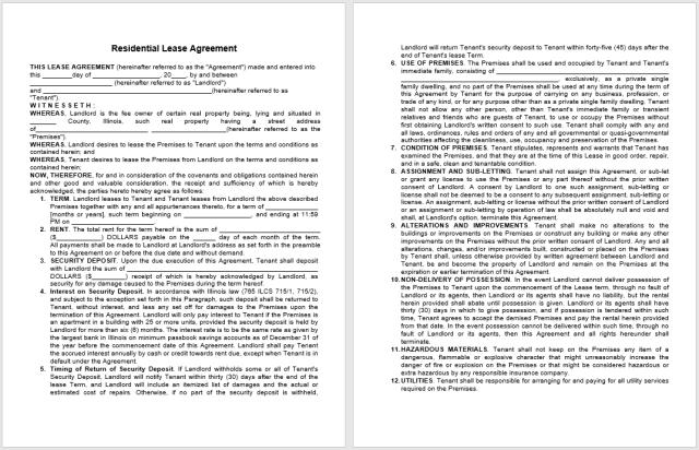 Rental Agreement Template 03