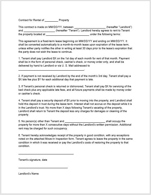 Rental Agreement Template 05