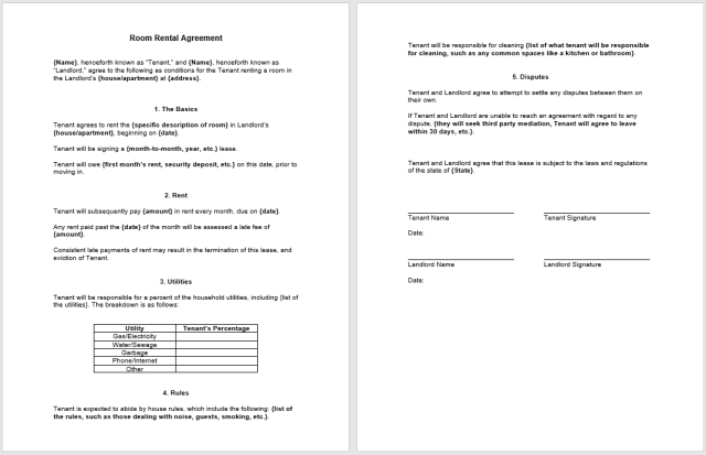 Rental Agreement Template 06