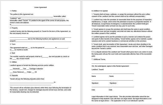 Rental Agreement Template 08