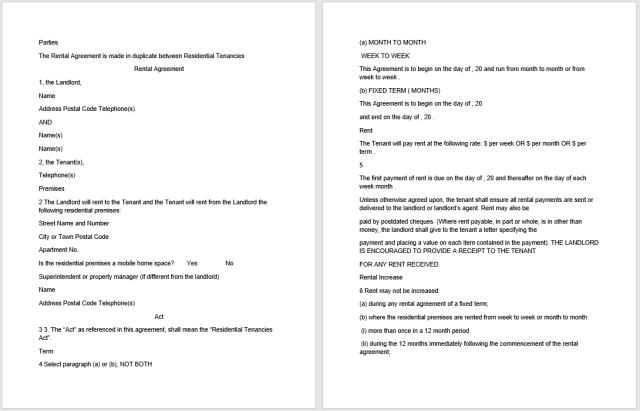 Rental Agreement Template 13