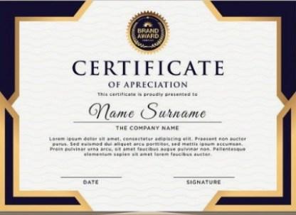 certificate of achievement template 10