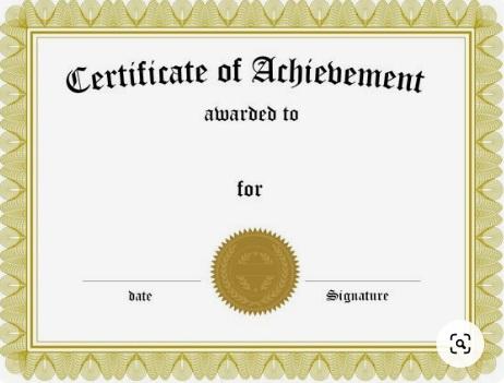 certificate of achievement template 12