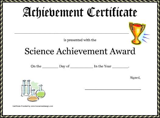 certificate of achievement template 13